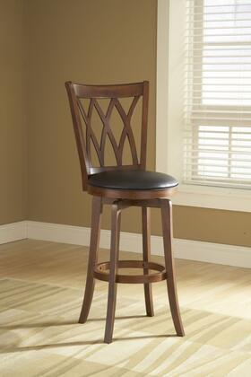 4975-832 Mansfield 49 Faux Leather Upholstered Swivel Bar Stool with Wood Frame in Brown