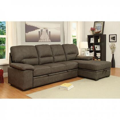 Furniture of America Alcester CM6908BRSET Sectional Sofa Brown, Main Image