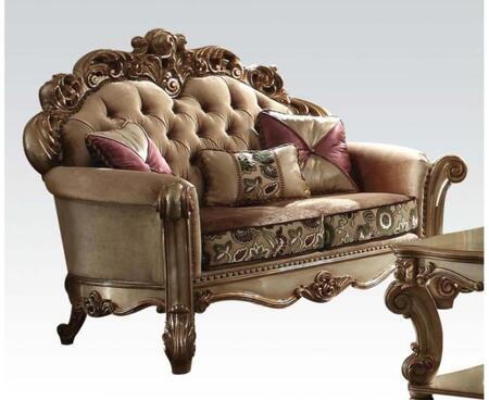 Acme Furniture Vendome 53011 Loveseat Gold, Loveseat