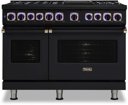 Viking 7 Series VDR74826GBORG Freestanding Dual Fuel Range Black, VDR74826GBORG Front view