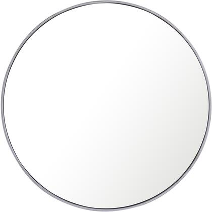 MR4043S Metal Frame Round Mirror 36″ Silver