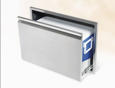 Twin Eagles TECD30B Storage Drawer Stainless Steel, Angled View