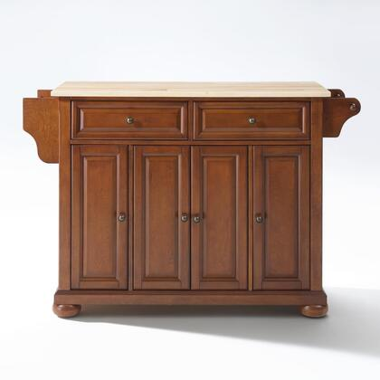 Alexandria Collection KF30001ACH Wood Top Island/Cart in Cherry