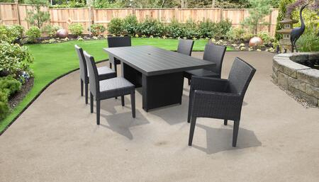 TK Classics BELLEDTRECKIT4ADC2DC Outdoor Patio Set, BELLE DTREC KIT 4ADC2DC