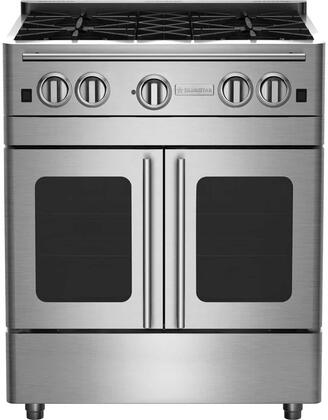 RNB304PMV2 30 Precious Metals Series Gas Range with 4 Burners  and Unique French Door Extra Large Convection Oven  in Specialty Paint