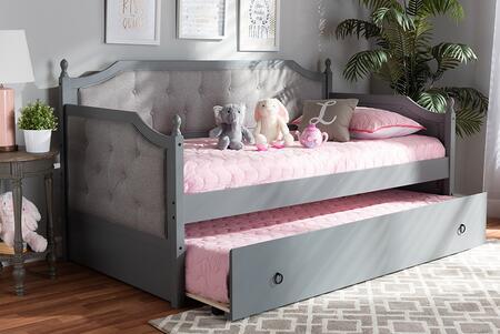 Baxton Studio 130.3 lbs. MG0014GREYGREYDAYBED Bed Gray, 9625 8