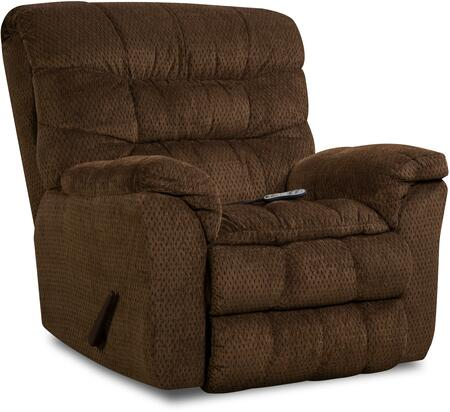 """U678-191 AEGEANCHOCOLATE Aegean 41"""" Heat & Massage Rocker Recliner with Fabric Upholstery Plush Padded Arms and Split Back Cushion in"""