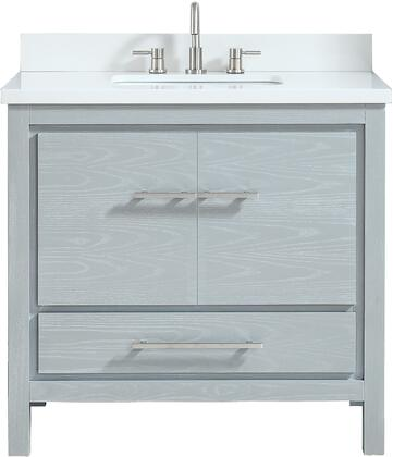 Avanity Azzuri Riley RILEYVS37SSG Sink Vanity Gray, RILEY-VS37-SSG Front