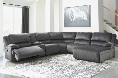 Signature Design by Ashley Clonmel 36505585719774697 Sectional Sofa Gray, 36505 58 57 19 77 46 97