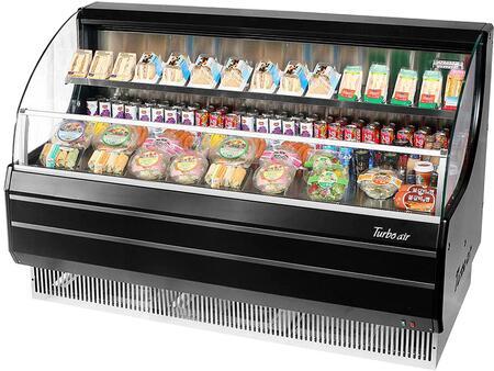 Turbo Air TOM60LBN Display and Merchandising Refrigerator Black, TOM60LBN Angled View