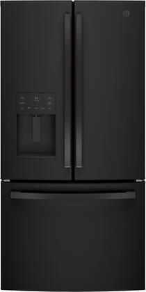 GE  GFE26JEMDS French Door Refrigerator Black Slate, GFE26JEMDS French Door Refrigerator