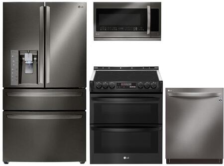 LG 841730 Kitchen Appliance Package & Bundle Black Stainless Steel, Main Image