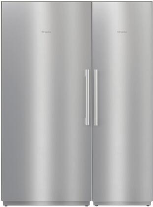 Miele  1330579 Column Refrigerator & Freezer Set Stainless Steel, 1