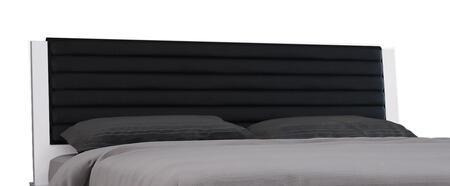 Whiteline Angulatus BQ1224PBLK Bed Accessory Black, Black Panel Shown on White Bed