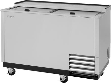 Turbo Air Super Deluxe TBC50SDGFN Glass Chiller and Froster Stainless Steel, TBC50SDGFN Angled View