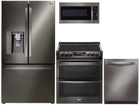 LG 974602 Kitchen Appliance Package & Bundle Black Stainless Steel, Main image