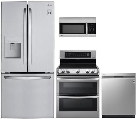 LG 974865 4 piece Stainless Steel Kitchen Appliances Package