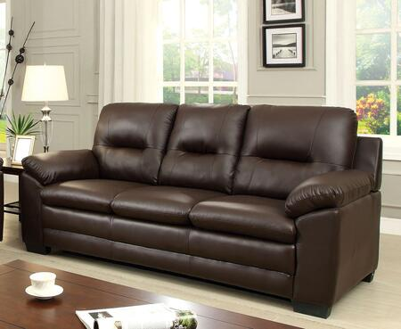 Furniture of America Parma CM6324BRSF Stationary Sofa Brown, Main Image