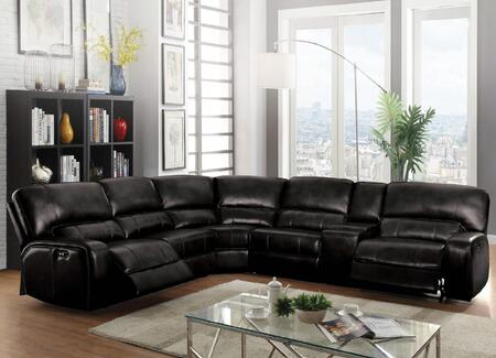 Acme Furniture Saul 54350 Sectional Sofa Black, Main Image