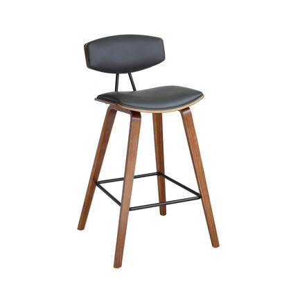 Armen Living Fox Series LCFOBAWAGR30 Bar Stool Gray, LCFOBAWAGR30