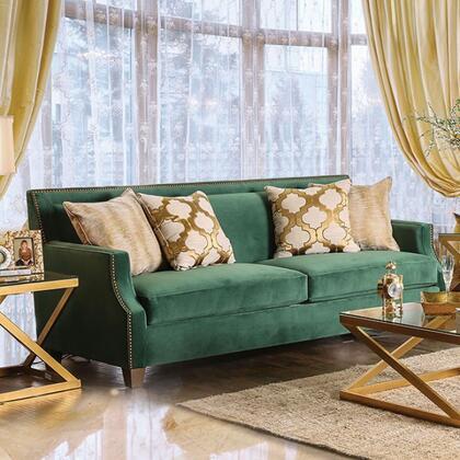 Furniture of America Verdante SM2271SF Stationary Sofa Green, Main Image