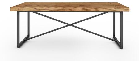 Signature Home Collection FT48ICFHO X Coffee Table with Textured  Powder Coated Metal Frame  Thick MDF Top and Easy Assembly in