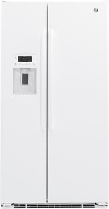 GE  GZS22DGJWW Side-By-Side Refrigerator White, Main Image