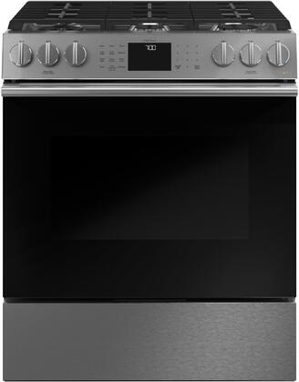 CGS700M2NS5 30″ Modern Glass Slide In Gas Range with 6 Sealed Burners  6.7 cu. ft. Oven Capacity  Cast Iron Griddle  True European Convection  Wifi