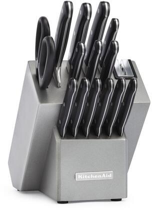 KitchenAid® Classic Forged 16-Piece Cutlery Knife Block Set KitchenAid -  KKFTR16SL