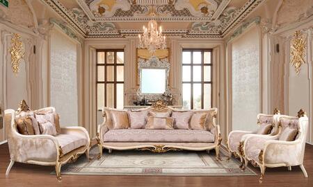 European Furniture Veronica 47075SLC Living Room Set Beige, Main Image