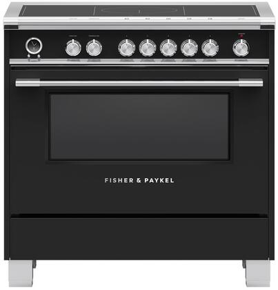 Fisher Paykel Classic OR36SCI6B1 Freestanding Electric Range Black, OR36SCI6B1 Classic Induction Range