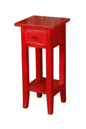 Sunset Trading Shabby Chic Cottage CCTAB1792LDRD Accent Table Red, CC TAB1792LD RD