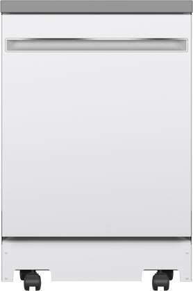 GE  GPT225SGLWW Portable Dishwasher White, GPT225SGLWW Front View