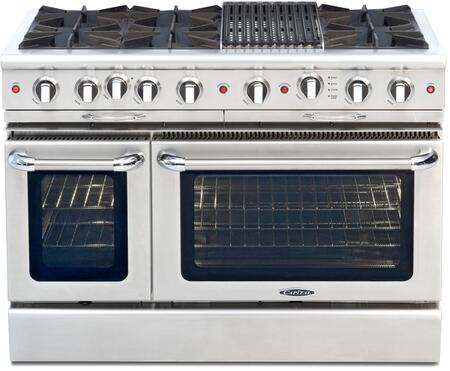 Capital Culinarian CGSR484B2 Freestanding Gas Range Stainless Steel, Burner Configuration