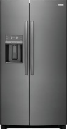 Frigidaire  GRSC2352AD Side-By-Side Refrigerator Black Stainless Steel, GRSC2352AD Side by Side Refrigerator