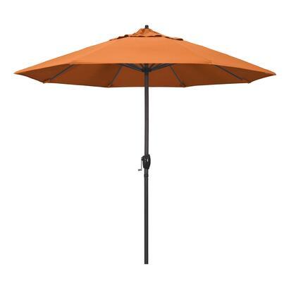 Casa Collection ATA908117-5406 9′ Patio Umbrella With Bronze Aluminum Pole Aluminum Ribs Auto Tilt Crank Lift With Sunbrella 2A Tangerine