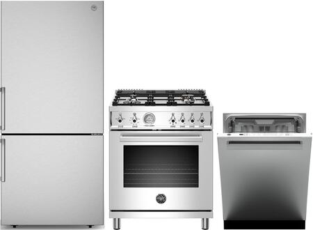 Bertazzoni  1411610 Kitchen Appliance Package Stainless Steel, main image