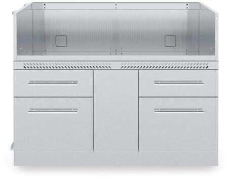 807600 Stainless Steel Stainless Steel 6-Burner Cabinet with 4 Drawers  Leveling Feet and Kick