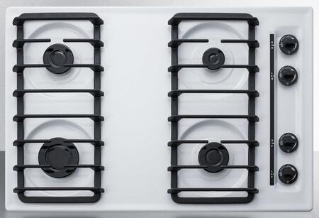 Summit  WTL053S Gas Cooktop White, WTL053S Gas Cooktop