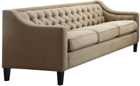 Acme Furniture Suzanne 54010 Stationary Sofa Beige, Sofa