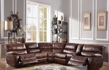 Acme Furniture Brax 52070 Sectional Sofa Brown, 1