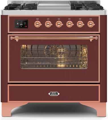 UM09FDNS3BUP 36″ Majestic II Series Dual Fuel Natural Gas Range with 6 Burners and Griddle  3.5 cu. ft. Oven Capacity  TFT Oven Control Display
