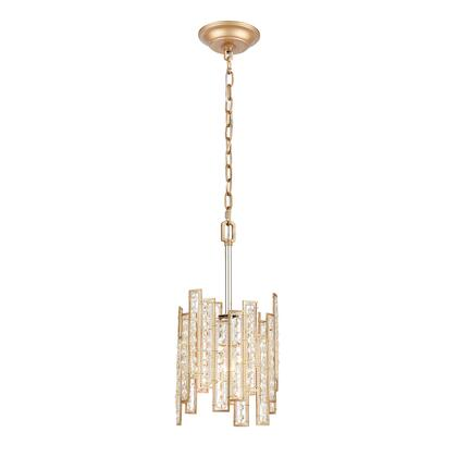 12132/1 Equilibrium 1-Light Mini Pendant in Matte Gold with Clear