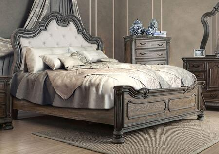 Furniture of America Ariadne CM7662CKBED Bed Gray, Main Image