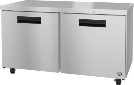 Hoshizaki Steelheart UF60A01 Commercial Undercounter Freezer Stainless Steel, UF60A01 Angled View