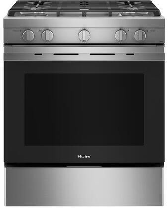 QGSS740RNSS 30″ Gas Freestanding Range with 5.6 cu. ft. Capacity  Convection  Steam Clean  Electronic Ignition System  Interior Lighting  Timer  in