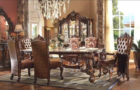 Acme Furniture Versailles 611008TCCB Dining Room Set Brown, 8 PC Set
