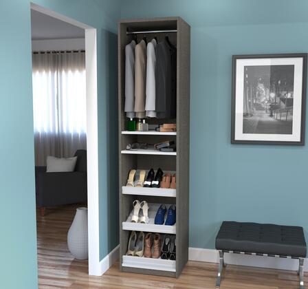 Bestar Furniture 8016747 Shoe Rack, bestar cielo bark gray 80167 47 room