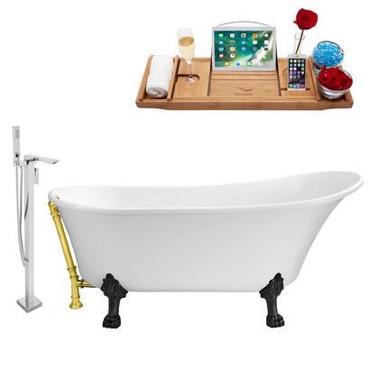 Streamline NH340BLGLD140 Bath Tub, NH340BL GLD 140 1T