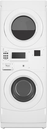 Whirlpool CGT9100GQ 27 Commercial Stacked Gas Dryer on Washer with 3.1 cu. ft. Washer Capacity, 6.7 cu. ft. Dryer Capacity, Energy Star